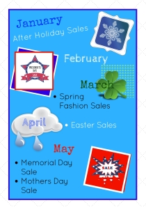 January- May Shopping Calendar