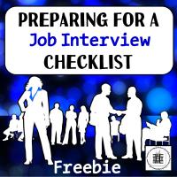 Preparing FOr An Interview Checklist Freebie