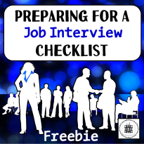 Preparing For An Interview Checklist Freebie