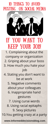 10 Things You Want To Avoid Posting On Social Media If You Want To Keep Your Job
